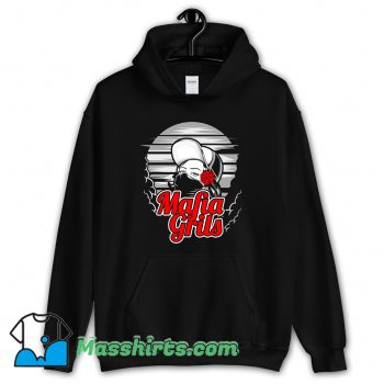 Mafia Girl and Rose Hand Hoodie Streetwear