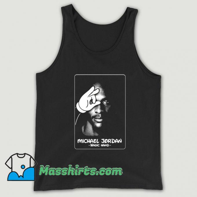 Michael Jordan Tupac Magic Hand Tank Top