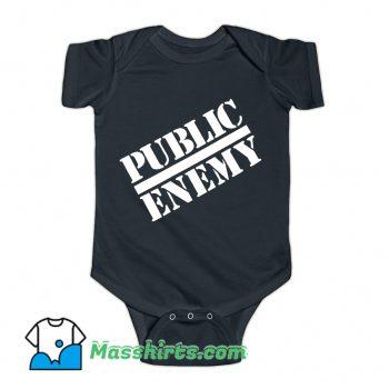 Public Enemy Chuck D Logo Hip Hop 1988 Baby Onesie