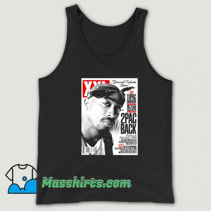 Original Rap Tupac Shakur Cover Mag Tank Top