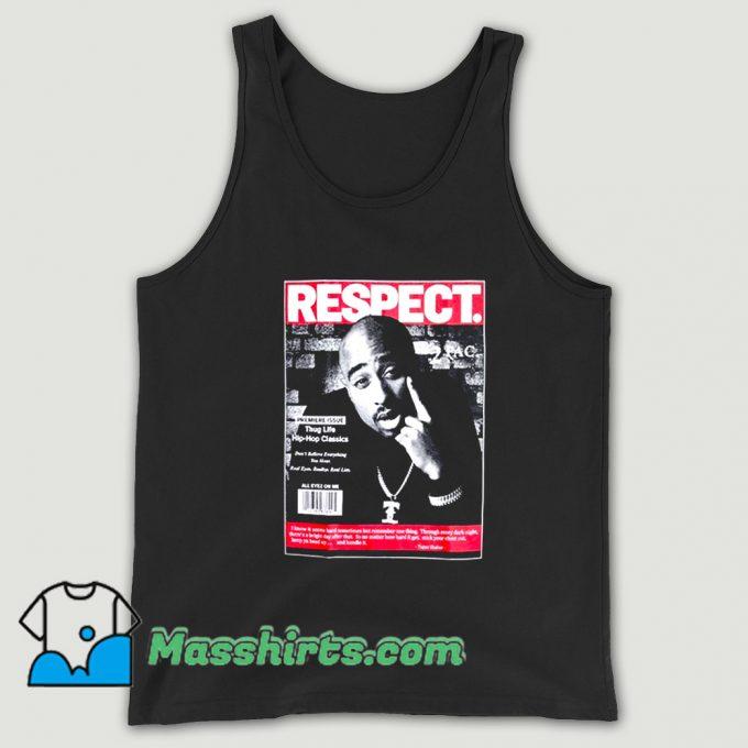 Vintage Rapper 2Pac Respect Tank Top
