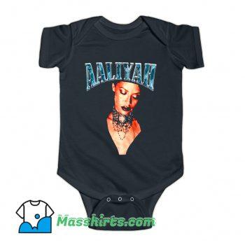 Retro 90s Aaliyah American Music Baby Onesie