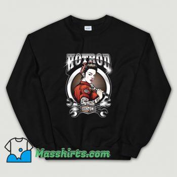 Rockabilly Pin Up Girl Hot Rod Service Sweatshirt