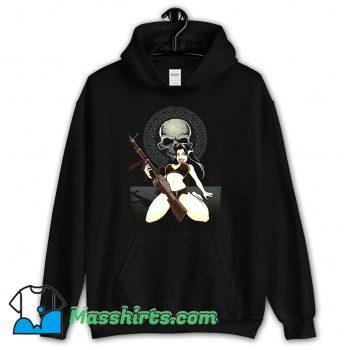 Sexy Bikini Rebel Black Skull Hoodie Streetwear