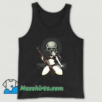 Black Skull Sexy Bikini Rebel Tank Top