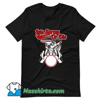 Skull Wearing Bandana Hold Spray T Shirt Design
