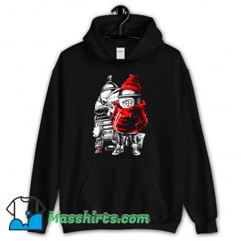 Spray Paint Hip Hop Hand Drawing Hoodie Streetwear