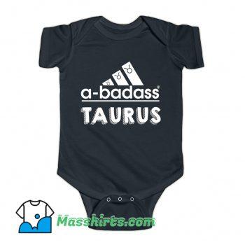 Vintage Taurus A-Badass Baby Onesie