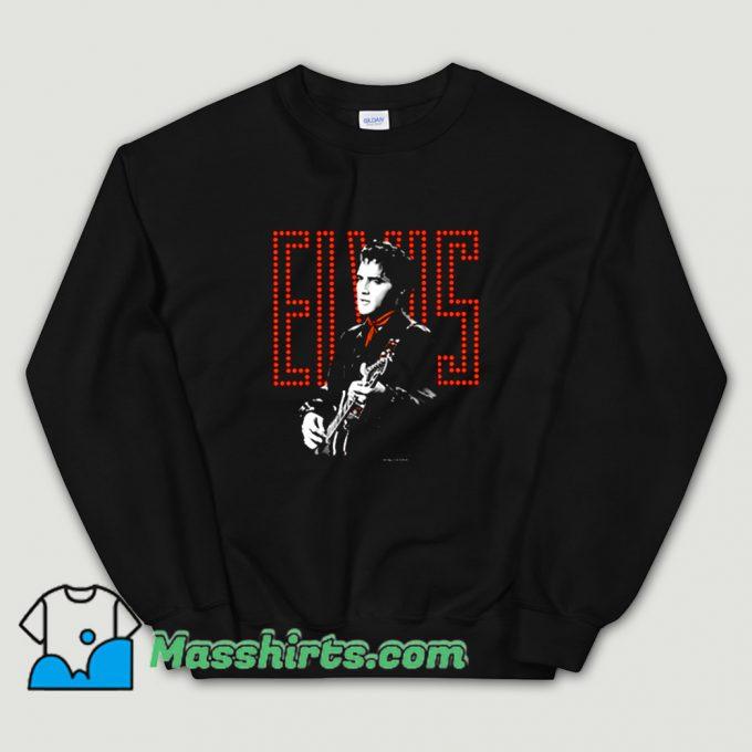 Funny Toddler Red Guitarman Elvis Presley Sweatshirt