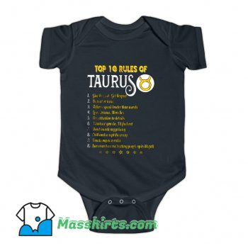 Top 10 Rules Of Taurus Baby Onesie