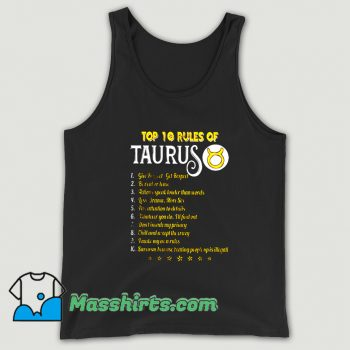 Top 10 Rules Of Taurus Tank Top On Sale