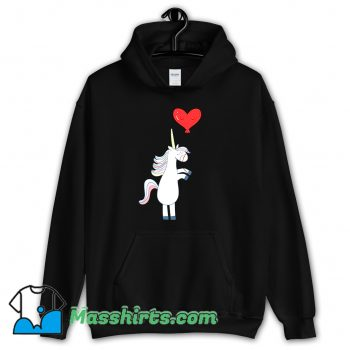 Cool Unicorn Balloon Love Heart Hoodie Streetwear
