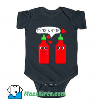 Valentine Day You're A Hottie Baby Onesie