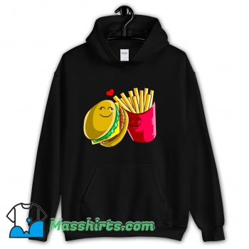 Valentines Cheeseburger Fries Hoodie Streetwear