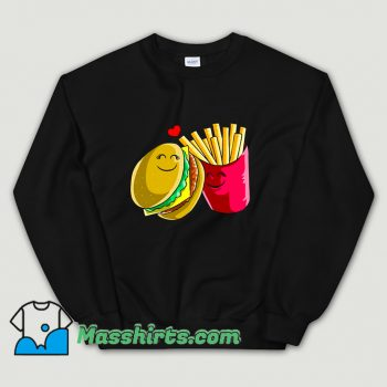 Valentines Day Cheeseburger Fries Sweatshirt