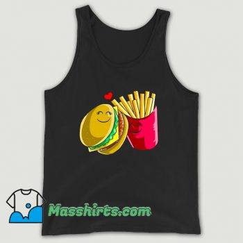 Valentines Day Cheeseburger Fries Tank Top On Sale