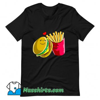 Valentines Day Cheeseburger Fries T Shirt Design