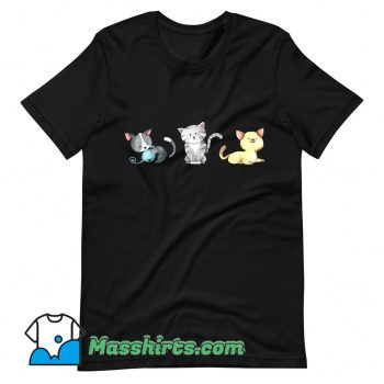 Classic 3 Cute Kittens Are Playing T Shirt Design