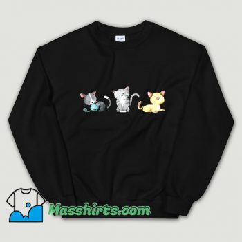 3 Cute Kittens Are Playing Sweatshirt