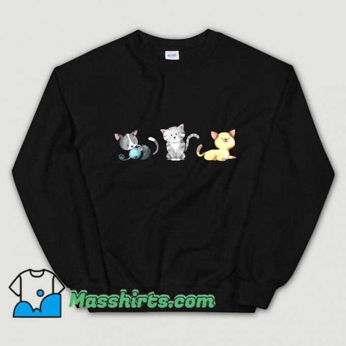 3 Cute Kittens Are Playing Sweatshirt
