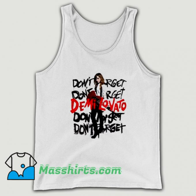 Original Demi Lovato Don't Forget Album Tank Top