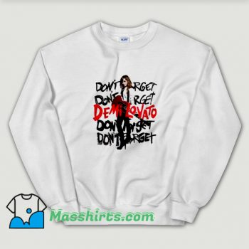 Album Demi Lovato Don't Forget Sweatshirt