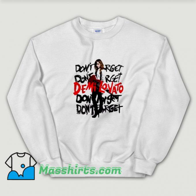 Album Demi Lovato Don't Forget Sweatshirt
