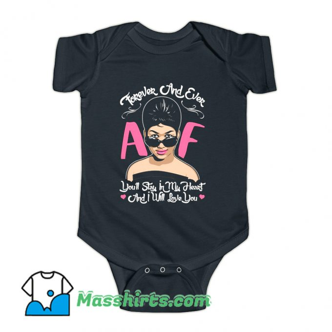 Aretha Franklin Forever And Ever Baby Onesie
