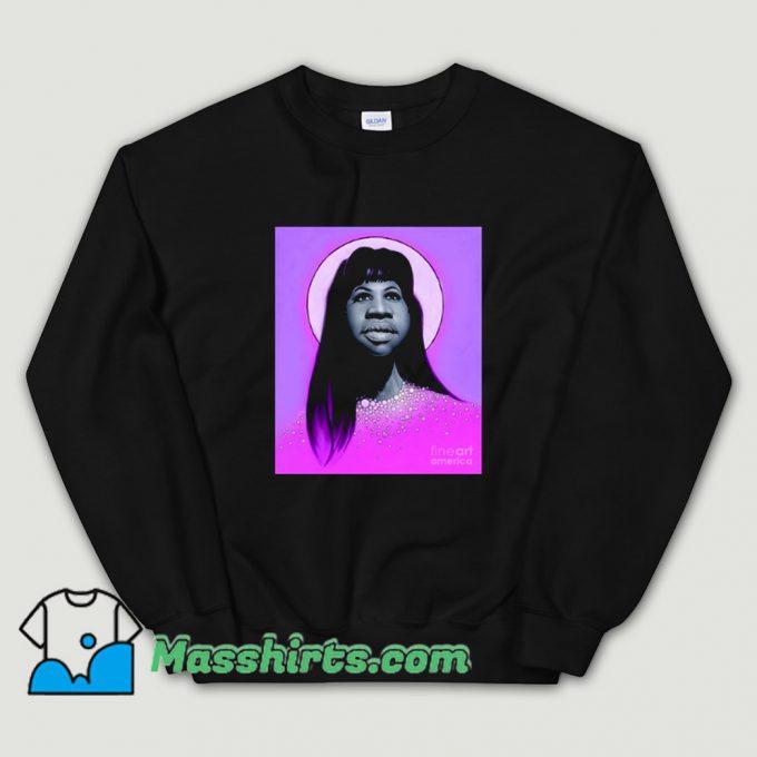 Aretha Franklin Long Hair Sweatshirt