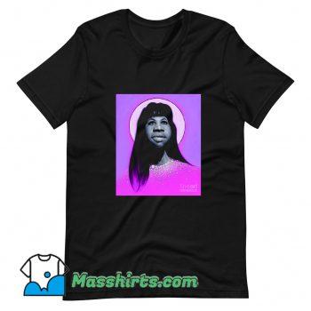 Classic Aretha Franklin Long Hair T Shirt Design