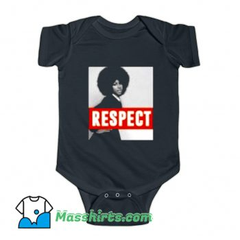 Cool Aretha Franklin Respect Natural Hair Baby Onesie