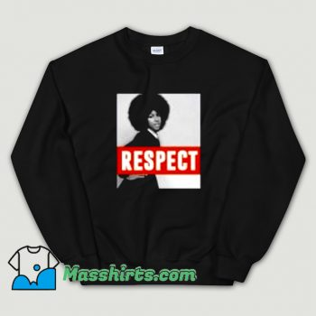 Aretha Franklin Respect Natural Hair Sweatshirt