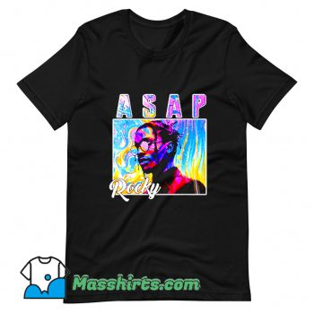 Asap Rocky Colorful T Shirt Design