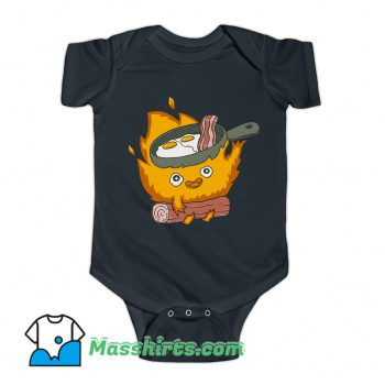 Baby Calcifer Cook Eggs and Meat Baby Onesie