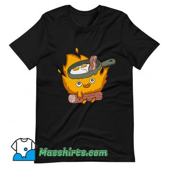Baby Calcifer Cook Eggs and Meat T Shirt Design