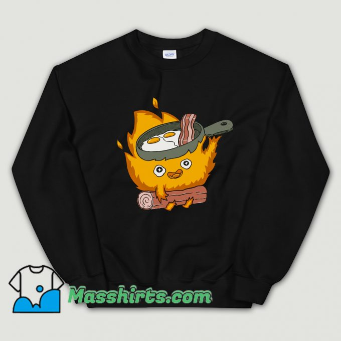 Baby Calcifer Cook Eggs and Meat Sweatshirt