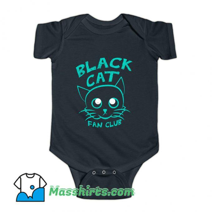 Black Cat Fan Club Baby Onesie