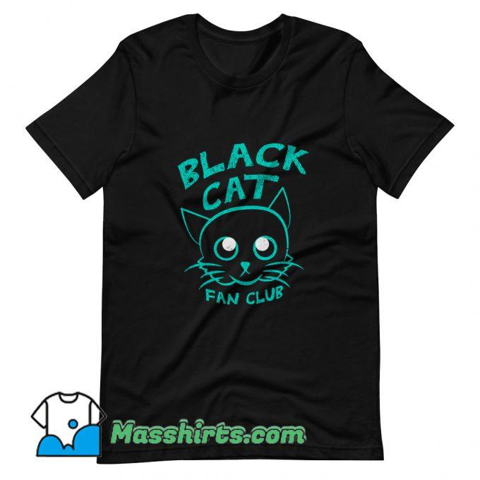 Black Cat Fan Club T Shirt Design