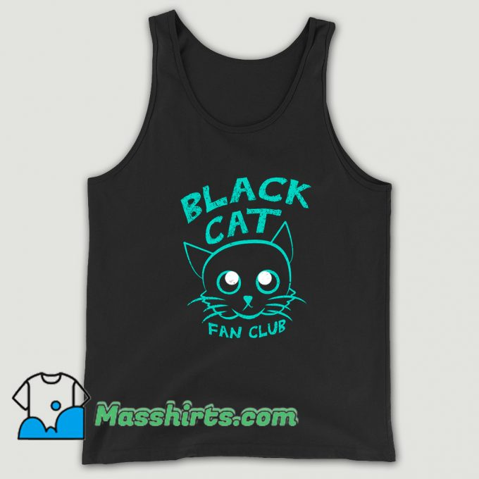 Vintage Black Cat Fan Club Tank Top