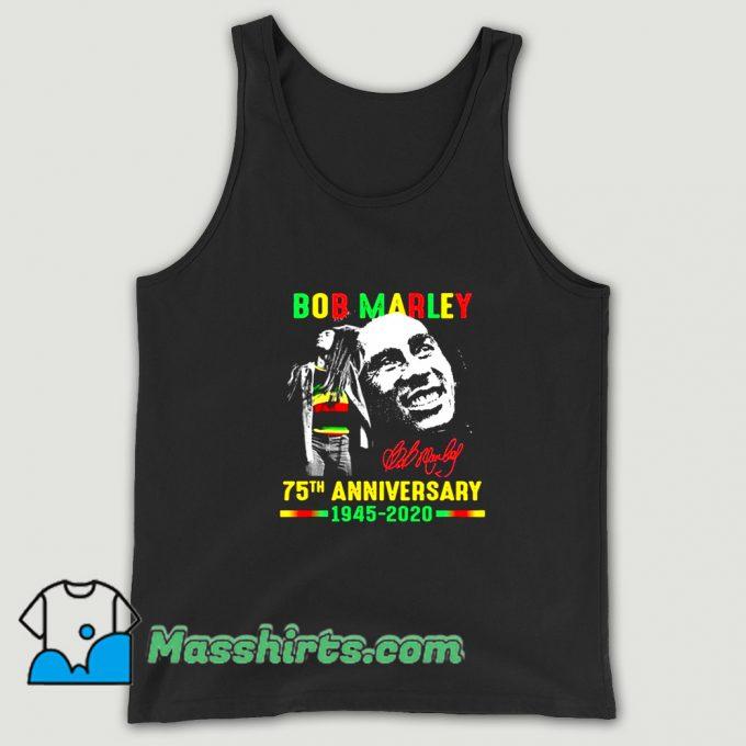 Vintage Bob Marley 75Th Anniversary Tank Top