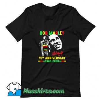 Classic Bob Marley 75Th Anniversary T Shirt Design