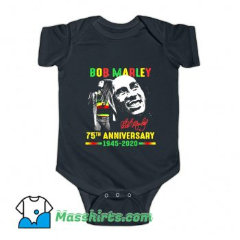 Bob Marley 75Th Anniversary Baby Onesie