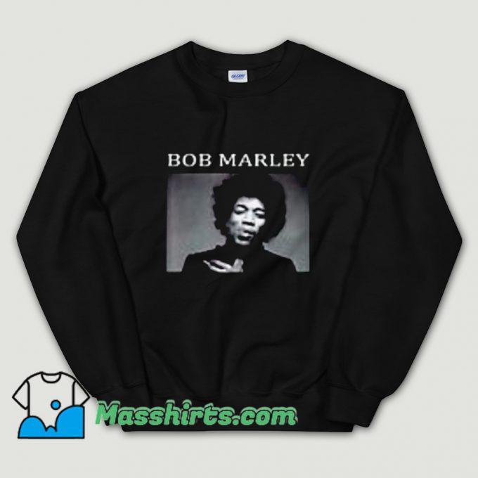 Bob Marley Jimi Hendrix Sweatshirt On Sale