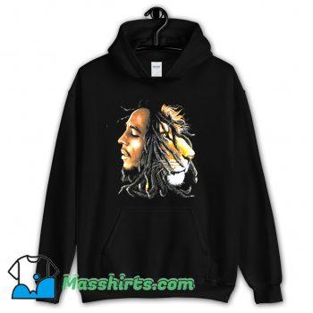 Bob Marley Lion Profile Hoodie Streetwear