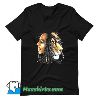 Bob Marley Lion Profile T Shirt Design