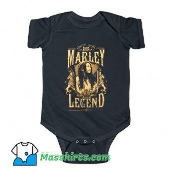Bob Marley Rond Rebel Legend Baby Onesie