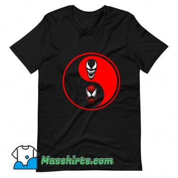 Cheap Carnage Venom Ying Yang T Shirt Design