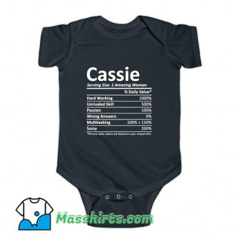 Cassie Serving Amazing Woman Baby Onesie