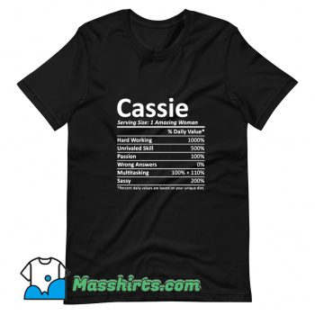 Cassie Serving Amazing Woman T Shirt Design