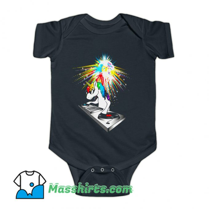 DJ Unicorn Techno Top Baby Onesie